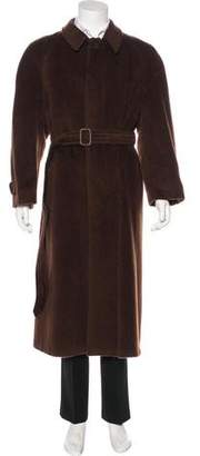 Giorgio Armani Wool & Mohair Trench Coat