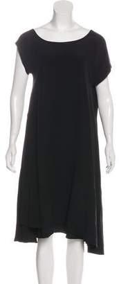 Bottega Veneta Silk Short Sleeve Midi Dress