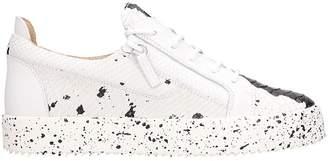 Giuseppe Zanotti Black-white Leather Double Sketch Sneakers