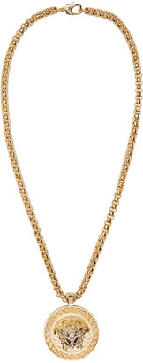 Versace Gold Medusa Chain Necklace $995 thestylecure.com