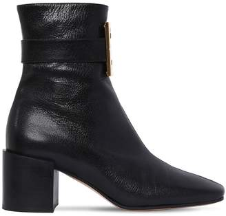 Givenchy 65mm 4g Buckle Leather Ankle Boots