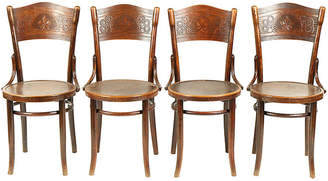 One Kings Lane Vintage Art Nouveau Thonet Bistro ChairSet of 4 - Vintique