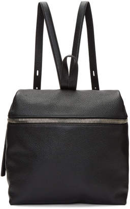 Kara Black Leather Large Backpack