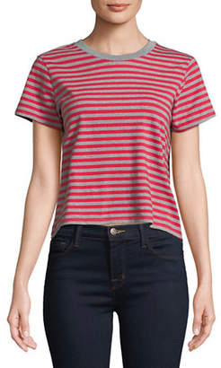 Levi's Stripe Cotton Cropped Tee