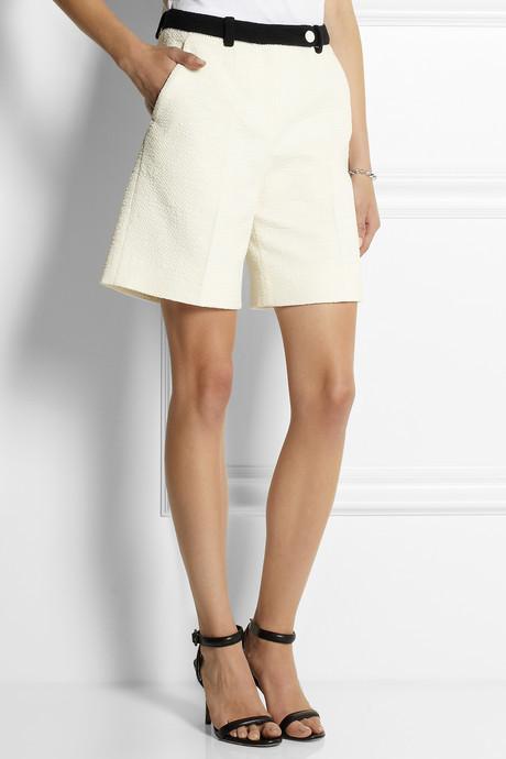 Carven Cotton-blend tweed shorts