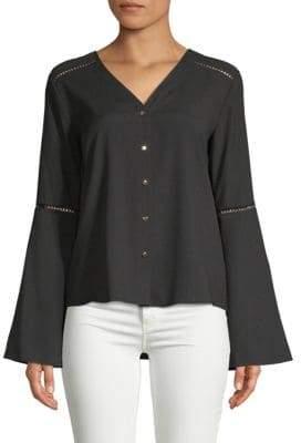 Calvin Klein Flare-Sleeve Blouse