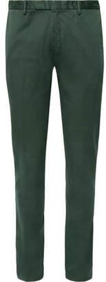 Boglioli Dark-Green Slim-Fit Stretch-Cotton Drill Suit Trousers