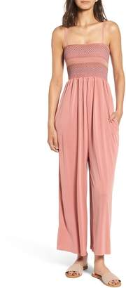 Splendid Smocked Jersey Jumpsuit