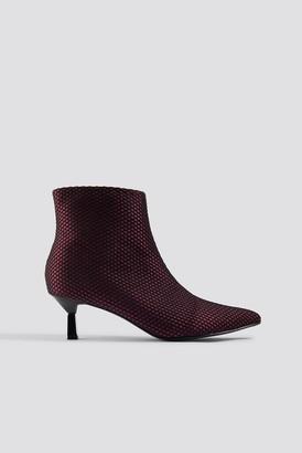 Na Kd Shoes Net Kitten Heel Boots Burgundy