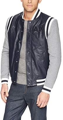 Armani Exchange A|X Men's Varsity Style Jacket with Stripes