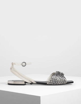 3c698242f5 Charles & Keith Ring Detail Leather Strappy Sandals