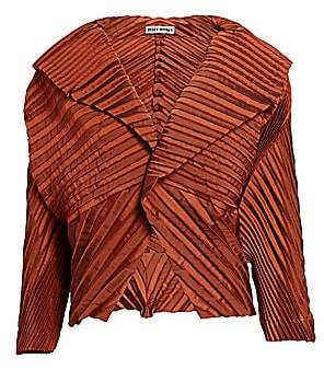 Issey Miyake Women's Cross Pleated Jacket