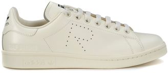 Adidas Sneaker For Raf Simons Stan Smith In Ivory Leather $268 thestylecure.com