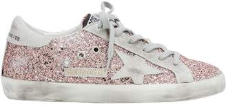 Golden Goose Superstar Rose Gold Glitter Low-Top Sneakers