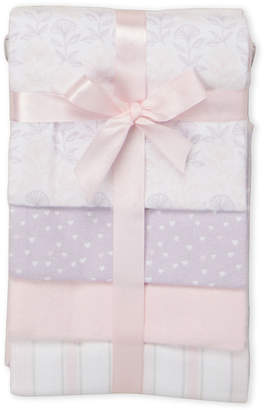 Baby Essentials Piccolo Bambino 4-Pack Pink Flannel Receiving Blanket Gift Set