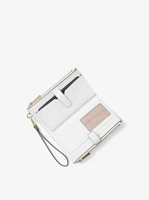 MICHAEL Michael Kors Adele Embellished Leather Smartphone Wallet
