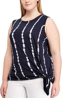 dc0c1181b8a ... Chaps Plus Size Side-Tie Sleeveless Top