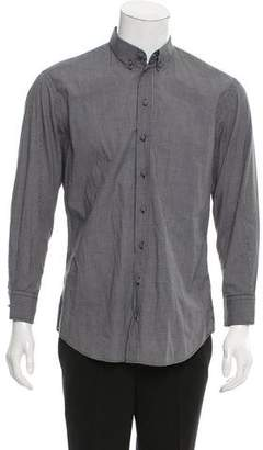 Armani Collezioni Gingham Button-Up Shirt