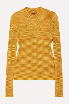 Missoni Striped Ribbed Crochet-knit Sweater - Gold