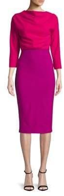 Badgley Mischka Belle Vibrant Midi Dress