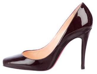 Christian Louboutin Patent Leather Square-Toe Pumps