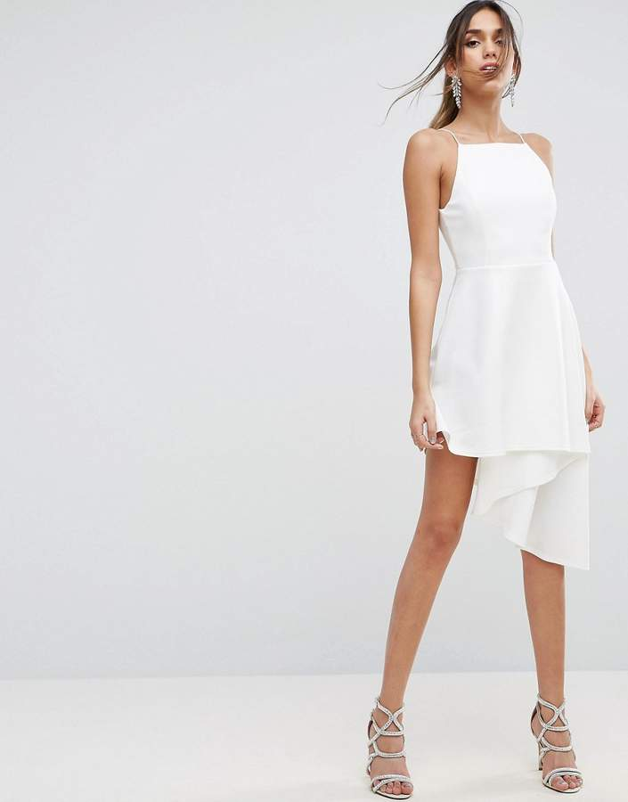 Asos ASOS Asymmetric Hem Pinny Skater Dress
