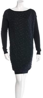 Lanvin Virgin Wool Metallic-Accented Dress