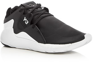 Y-3 QR Run Lace Up Sneakers $410 thestylecure.com