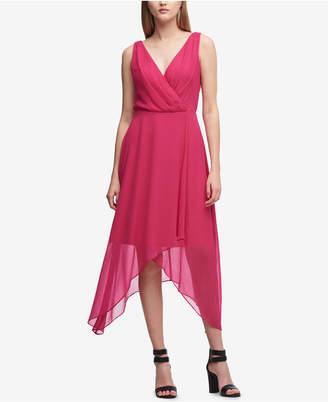 DKNY Pebble Chiffon High-Low Dress, Created for Macy's