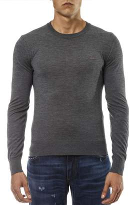 Dolce & Gabbana Grey Cashmere Jumper With Embroidered Crown