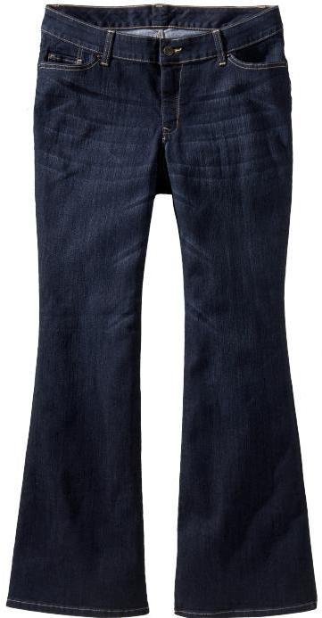 Old Navy Women's Plus Dark-Wash Slim Flare Jeans