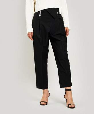 3.1 Phillip Lim Belted Overlap Tapered Trousers