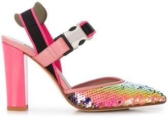 Alberto Gozzi rainbow sandals