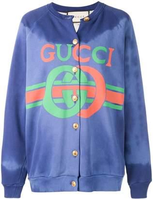 Gucci logo bomber jacket