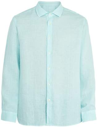 120% Lino 120 LINO Spread-collar linen shirt