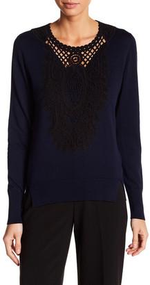 Kobi Halperin Madeline Crew Neck Pullover Sweater $358 thestylecure.com