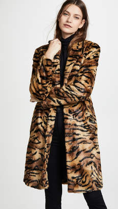 Vilshenko Faye Faux Fur Tiger Coat
