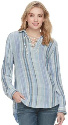 Sonoma Goods For Life Women's SONOMA Goods for Life Lace-Up Shirt