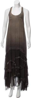 AllSaints Ombré Silk Maxi Dress