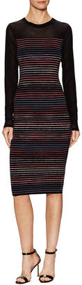 Rachel Roy Mixed Media Striped Sheath Dress
