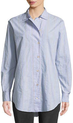 Forte Forte Oversized Striped Poplin Shirt