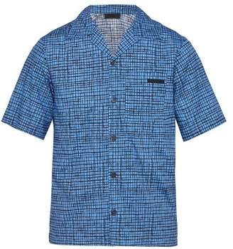 Prada Sketch Inspired Check Cotton Shirt - Mens - Blue Multi