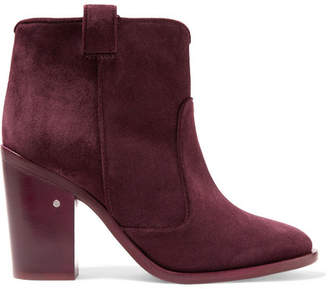 Laurence Dacade Nico Suede Ankle Boots - Burgundy