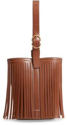 TRADEMARK Small Fringe Leather Bucket Bag