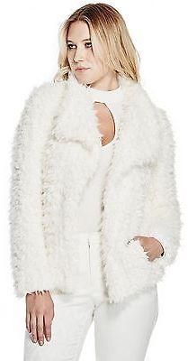 GUESS Women's Donnie Faux-Fur Jacket $79.99 thestylecure.com