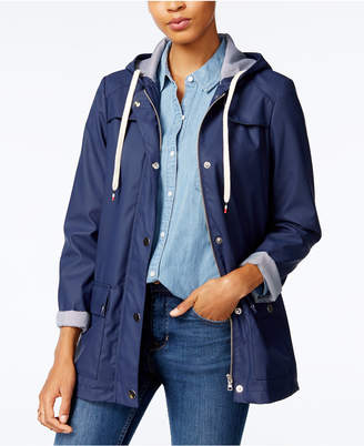 Maison Jules Hooded Raincoat, Created for Macy's