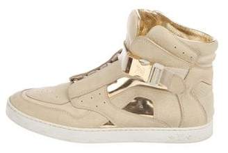 Louis Vuitton Nubuck High-Top Sneakers
