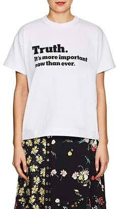 "Sacai Women's ""Truth"" Cotton T-Shirt"