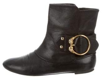Alexander McQueen Skull Leather Ankle Boots