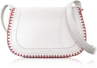 Carven Mazarine Ivory Leather Crossbody Bag